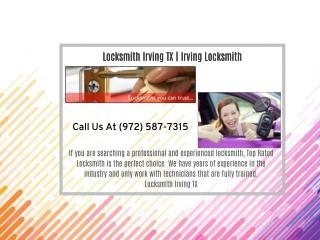 Locksmith Irving TX| Irving Locksmith