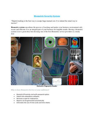 Biometric Systems Security