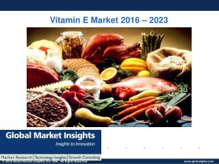PPT-Vitamin E Market: Global Market Insights, Inc.