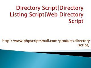 Directory Script Directory Listing Script Web Directory Script