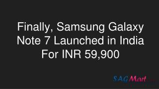 Samsung galaxy note 7 launched in India