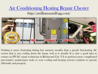 air conditioning heating repair chester