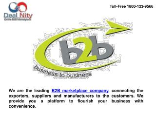 B2B Marketplace in India