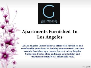 Apartments Furnished  In Los Angeles