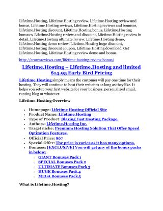 Lifetime.Hosting review & huge  100 bonus items