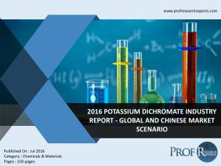 Dichromate Industry, 2011-2021 Market Research
