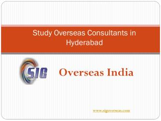 Study Overseas Consultants in Hyderabad