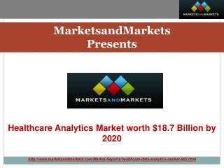 Healthcare Analytics/Medical Analytics Market by Application, Types, Delivery & End-User - 2020 | MarketsandMarkets