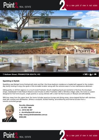 7 Hotham Street house for Sale in Frankston South