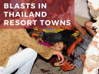 Blasts in Thailand resort towns