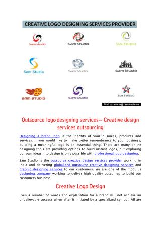 Outsource logo designing services – Creative design services outsourcing