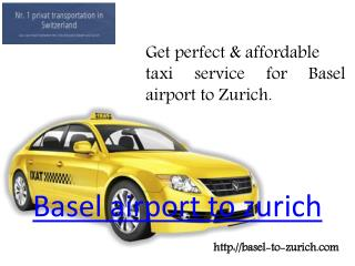 Basel airport to zurich