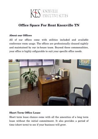Knoxville Office Space For Lease