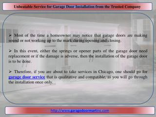 Unbeatable Service for Garage Door Installation from the Trusted Company
