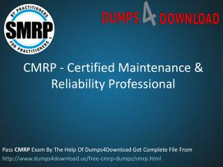 Pass4sure CMRP Exam Dumps PDF File