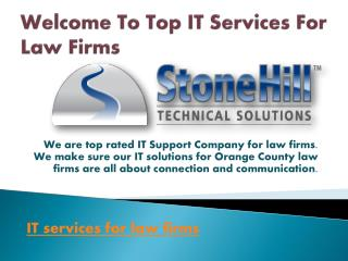 Top IT Services for Law Firms