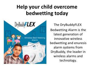 Help your child overcome bedwetting today