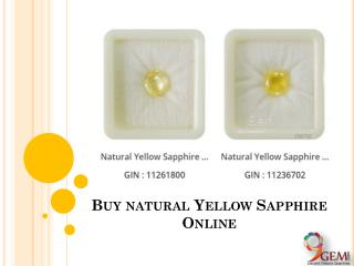 Buy Natural Yellow Sapphire Online
