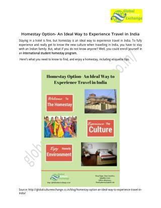 International Student Homestay Program