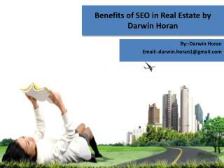 Benefits of SEO in Real Estate by Darwin Horan