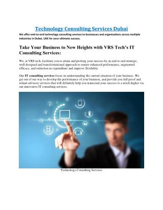 Technology Consulting Services Dubai