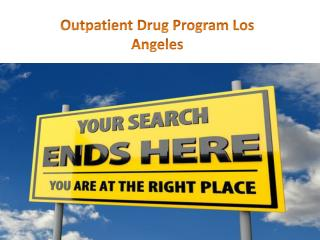 Outpatient Drug Program Los Angeles
