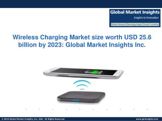 Wireless Charging Market size worth USD 25.6 billion by 2023