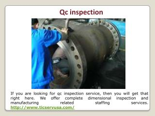 Vendor inspection and expediting services