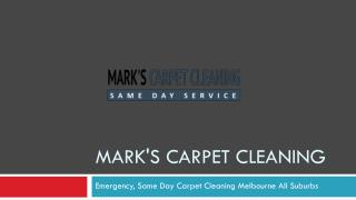 Mark's Carpet Cleaning Melbourne| Clean, Soft, Dry Carpet
