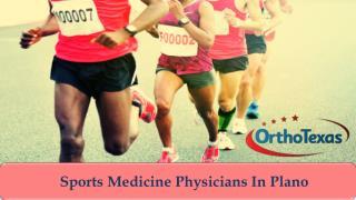Sports Medicine Physicians In Plano