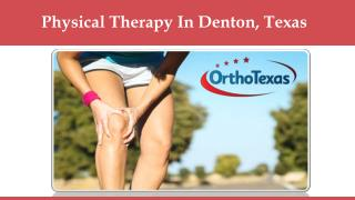Physical Therapy In Denton, Texas