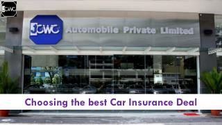 Choosing the best car insurance deal