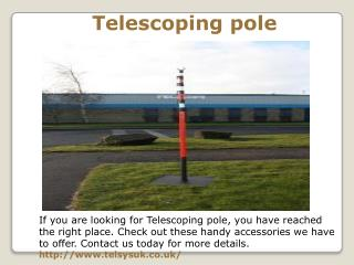 Telescoping pole