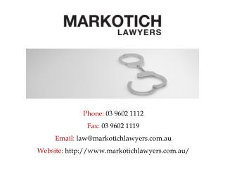 Best Lawyers for Criminal Law in Melbourne – Markotich Lawyers