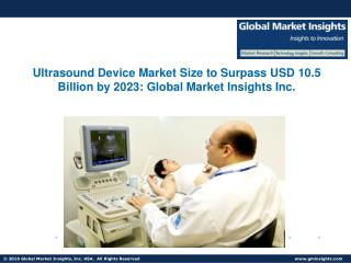 Ultrasound Device Market size to surpass USD 10.5 billion by 2023