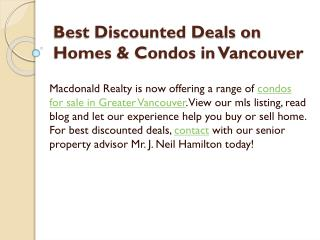 Best Discounted Deals on Homes & Condos in Vancouver