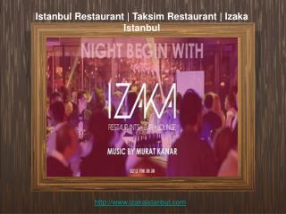Istanbul restaurant | Taksim restaurant