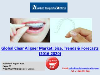 Global Clear Aligner Market Analysis 2016