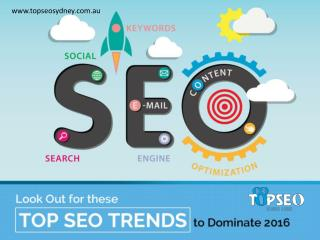 Top SEO Trends to Watch Out for in 2016