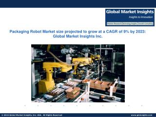 Packaging Robot Market size projected to grow at a CAGR of 9% by 2023