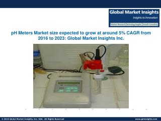 pH Meters Market size expected to grow at around 5% CAGR from 2016 to 2023