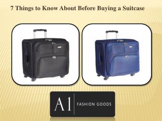 7 Things to Know About Before Buying a Suitcase