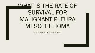 Can You File A Lawsuit For Malignant Pleura Mesothelioma And What Is Its Survival Rate