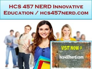 HCS 457 NERD Innovative Education / hcs457nerd.com