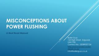 Read to Know Some Misconceptions About Power flushing