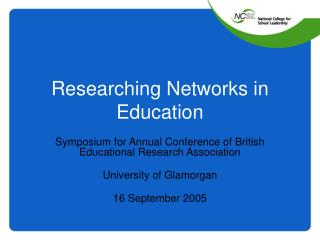 Researching Networks in Education