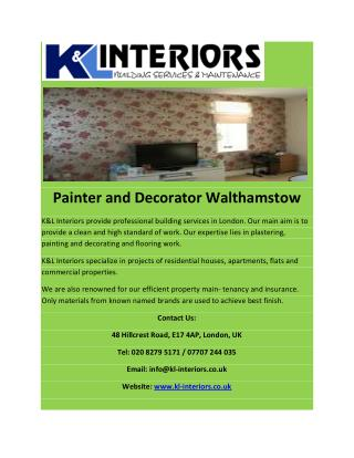 Painter and Decorator Walthamstow