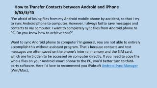 How Can I Sync Android Mobile Phone to Computer Windows or Mac