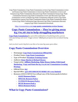 Copy Paste Commission review - I was shocked!