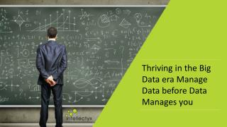 Whitepaper: Thriving in the Big Data era Manage Data before Data Manages you